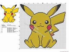 Pikachu Free Small And Simple Cross Stitch Pattern