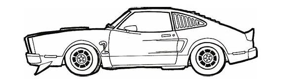 Car Mustang LX Coloring Pages  Best Place To Color