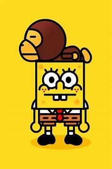 supreme spongebob wallpaper spongebob wallpaper iphone wallpapersafari
