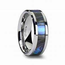 men s tungsten wedding band with mother of pearl inlay 170 unique engagement rings for men