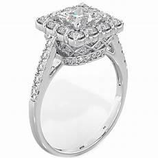 sterling silver wedding ring princess cut halo 925 sterling silver wedding engagement