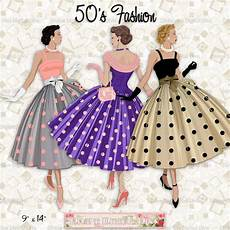 12 fashion 50s polka dot dress light skin tone