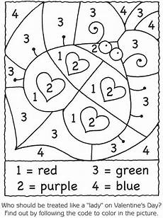 color by number worksheets hearts 16061 bug hearts color by number great for one of those quot my brain is fried quot days preschool