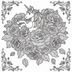 unicorn mandala unicorns coloring pages