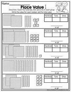 place value worksheets hundreds 5128 september no prep math and literacy 2nd grade actividades de matematicas fichas de