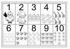 number 1 10 worksheets free activity shelter