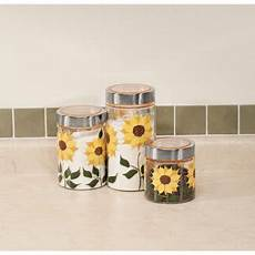 Walmart Kitchen Decor by Sunflower Canisters Set Of 3 Walmart