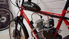 push bike engine hybrid between electric petrol engine