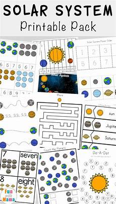 solar system printable pack fun with mama