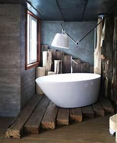 badewanne auf podest vintage bad