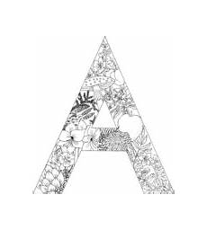 Ausmalbilder Buchstaben A Letter A With Plants Coloring Page Free Coloring Pages