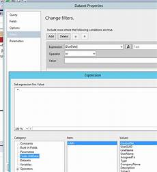 ssrs date filter sql server how to write an expression in ssrs to filter data stack overflow