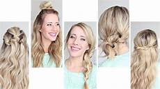 five easy 1 min hairstyles cute hairstyles youtube