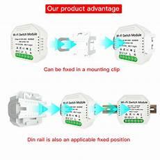 Moeshouse Ac90 250v Wifi Smart Light by Moeshouse Ms 104 Ac90 250v Two Way Wifi Smart Light Switch