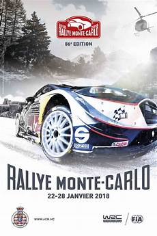 Rallye Monte Carlo 2018 Date And Poster Rally