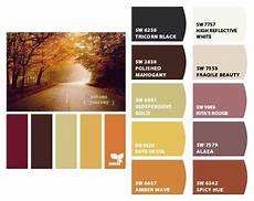 autumn journey paint palette colors sherwin williams colors tricorn black polished mahogany