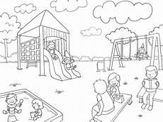 Malvorlagen Kostenlos Jugar Ausmalbild Rund Ums Spielen Auf Dem Spielplatz Kostenlos