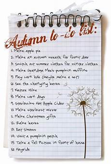 So The Cook Said Autumn To Do List