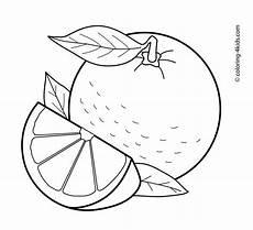 Ausmalbilder Orange Obst Orange Fruits Coloring Pages For Printable Free