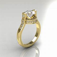 italian bridal 10k yellow gold 1 5 carat cz diamond