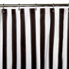white striped shower curtain black and white striped shower curtain in linen