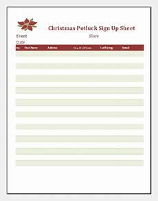 christmas potluck signup sheet templates document hub