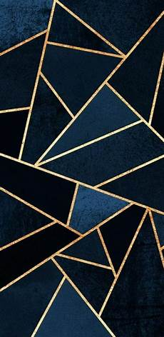 Iphone Wallpaper White And Gold by Navy Blue And Gold Geometric Pattern In 2019 Gold