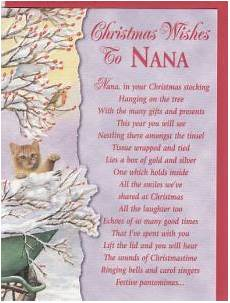 christmas grandparents english greeting cards in