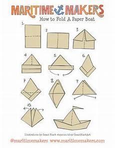 schiffchen falten anleitung stock vector papperspyssel vika papper origami och