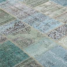 turquoise vintage patchwork flicken teppich 200x300cm