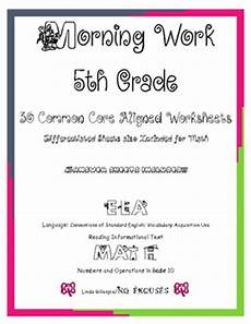 ela and math 5th grade morning work includes by no