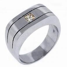 mens 2 5 carat princess square cut diamond ring wedding band 14kt white gold ebay