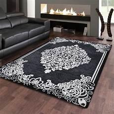 tapis style orientale 160 x 220 cm jemila black 539