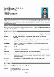 sle resume for freshers engineers download instrument engineer sle resume fresher resume
