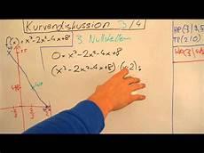 kurvendiskussion 3 4 nullstellen polynom dritten