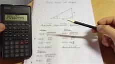 sinus kosinus und tangens richtig berechnen anleitung