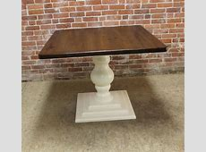 Small Square Pedestal Table   ECustomFinishes