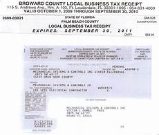 broward county business tax receipt application permit source information blog