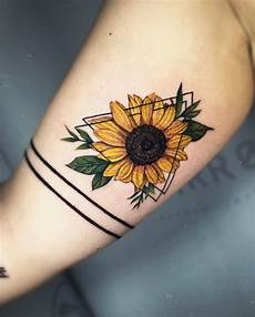 55 pretty sunflower tattoos let you sunshine page 8 diybig