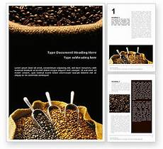post card template pn 8 5x11 canvas photoshop coffee beans in a bag flyer template background in