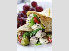 delicious homemade chicken salad wraps_image