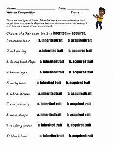 inherited and acquired traits worksheet