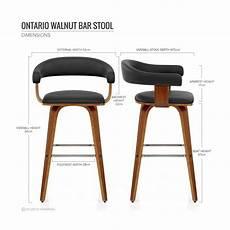 chaise de bar haute chaise de bar faux cuir bois ontario chaise bar
