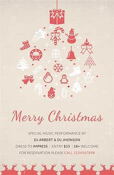 printable merry christmas poster template in adobe photoshop