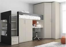 platzsparende möbel schlafzimmer loft bett mit kleiderschrank und schreibtisch unten