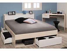 Jugendzimmer Morris 61 Akazie Bett 140x200 Schreibtisch