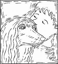 junge kuesst hund ausmalbild malvorlage tiere
