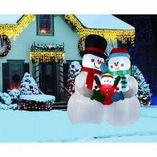 Walmart Decorations Outdoor by 8ft Snowman Family Indoor Outdoor