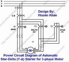 star delta starter y δ starter power control and wiring connection