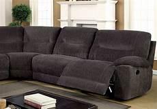 zuben reclining sectional sofa cm6853 in gray chenille fabric